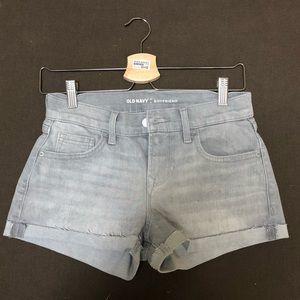 Grey Boyfriend Denim Shorts
